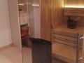 Sauna mit Glasfront und Glasecke