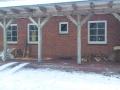 Schneetreiben behinderte unsere Arbeiten. Whirlpoolbauarbeiten