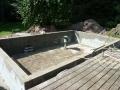 Mauerbau für den Swimspa
