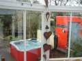 Outdoorwhirlpool, Wintergarten, Saunahaus