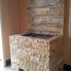 Saunagasofen ummauert