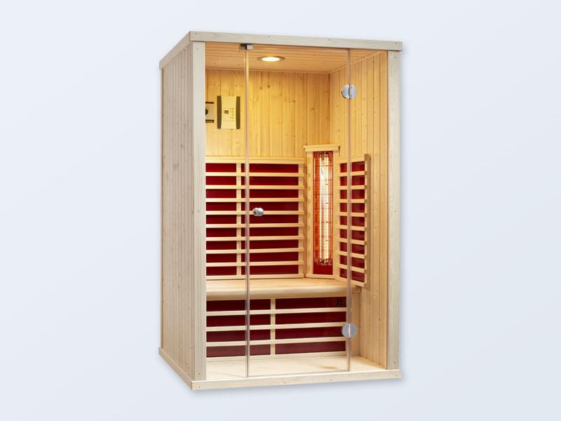 infrarotkabine triosol glas 145 wellnessdrops. Black Bedroom Furniture Sets. Home Design Ideas