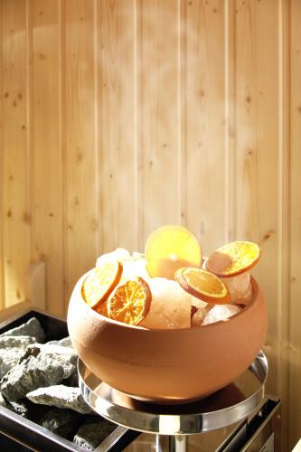 Verdampfer mit Orangen
