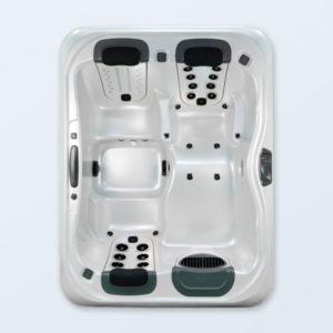 1 Liege, 2 Sitze , Wanne Pearl