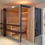 Transparente Sauna