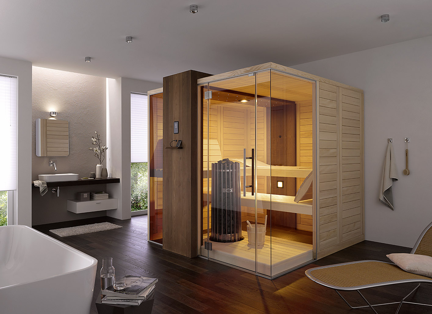 sauna f r den innenraum wellnessdrops. Black Bedroom Furniture Sets. Home Design Ideas